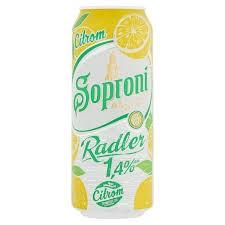 Soproni Radler 1,4% Citrom      DOB 0.50