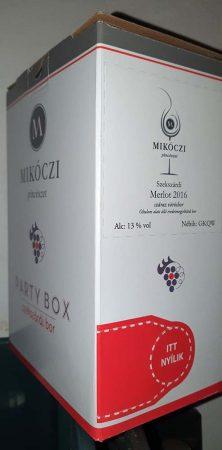 Mikóczi Merlot                   BOX 3 L