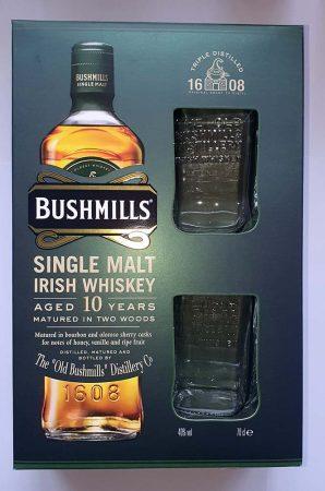 Bushmills Ír Whisky 10 év DD 2pohár 0.70