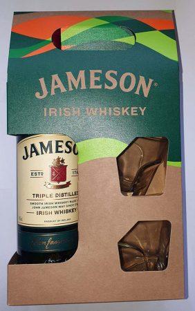 Jameson Ír Whiskey +2 pohár         0.70